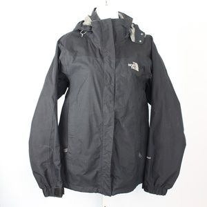 The North Face Hyvent black outer shell jacket